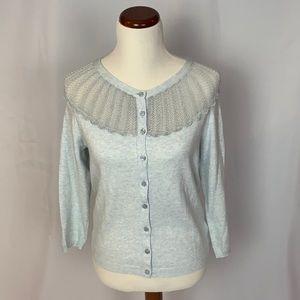 Anthropologie Sparrow blue cardigan sweater Medium